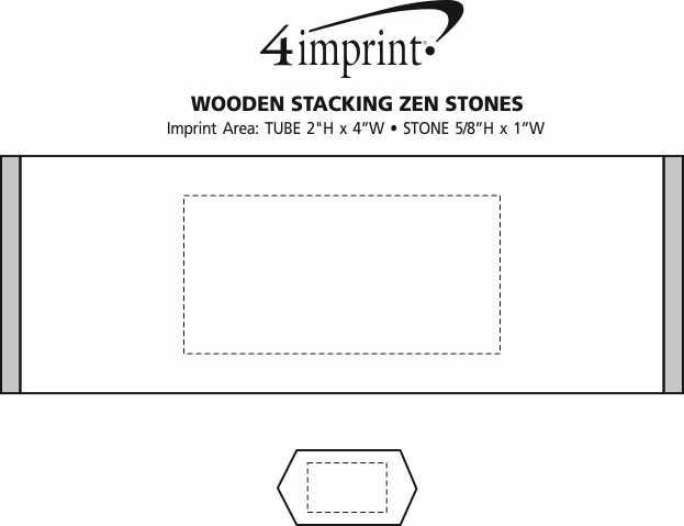 Imprint Area of Wooden Stacking Zen Stones