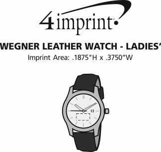 Imprint Area of Wenger Leather Watch - Ladies'