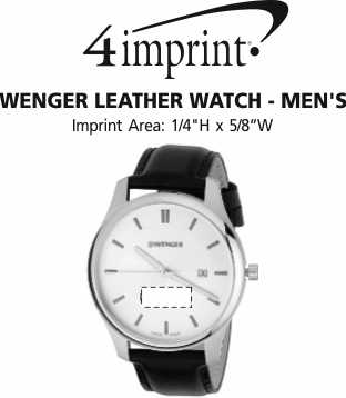 Imprint Area of Wenger Leather Watch - Men's