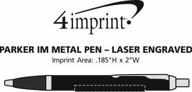 Imprint Area of Parker IM Metal Pen - Laser Engraved