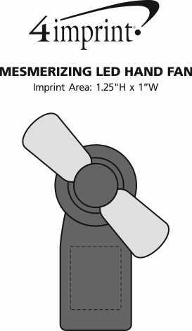 Imprint Area of Mesmerizing LED Hand Fan