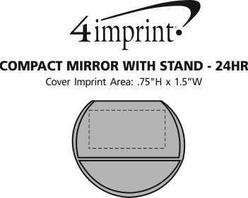 Imprint Area of Compact Mirror with Stand - 24 hr