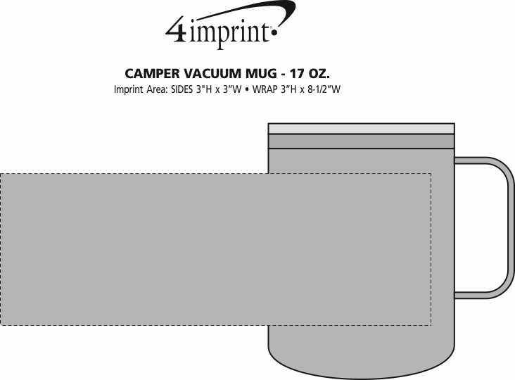 Imprint Area of Camper Vacuum Mug - 17 oz. - 24 hr