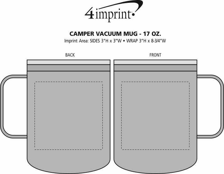 Imprint Area of Camper Vacuum Mug - 17 oz.