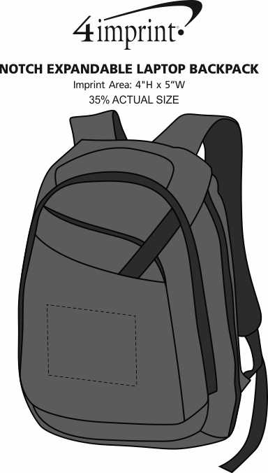 Imprint Area of Notch Expandable Laptop Backpack