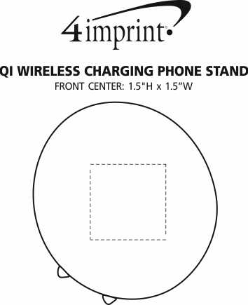 Imprint Area of Qi Wireless Charging Phone Stand