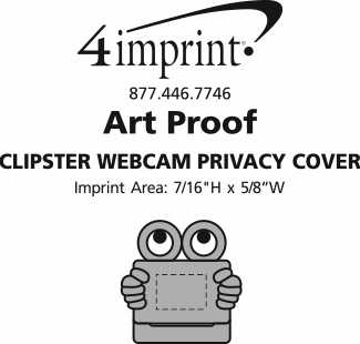Imprint Area of Clipster Webcam Privacy Cover