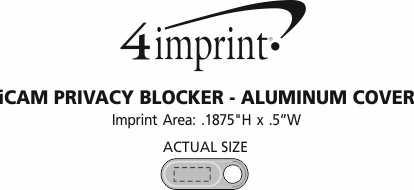 Imprint Area of iCam Privacy Blocker - Aluminum Cover