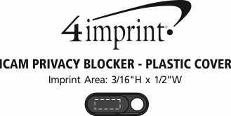 Imprint Area of iCam Privacy Blocker - Plastic Cover