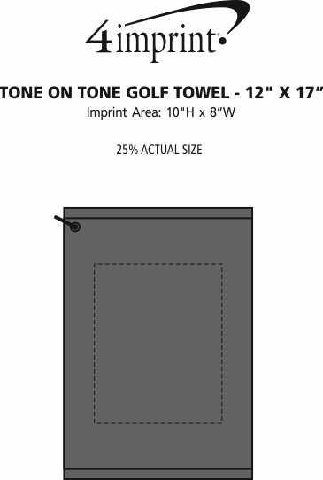 "Imprint Area of Tone on Tone Golf Towel - 12"" x 17"""