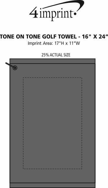 "Imprint Area of Tone on Tone Golf Towel - 16"" x 24"""