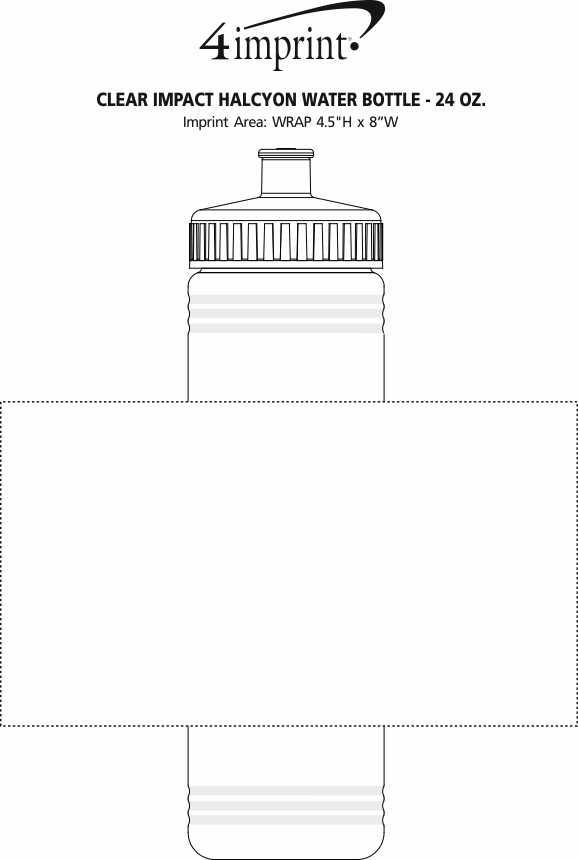 Imprint Area of Halcyon Water Bottle - 24 oz.