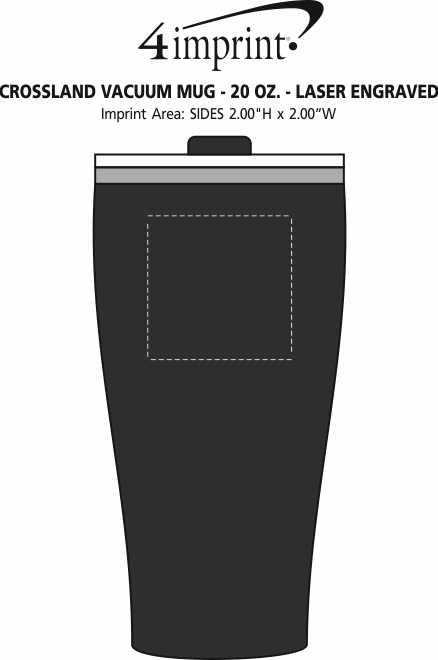 Imprint Area of Crossland Vacuum Mug - 20 oz. - Laser Engraved