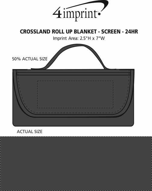 Imprint Area of Crossland Roll Up Blanket - Screen - 24 hr