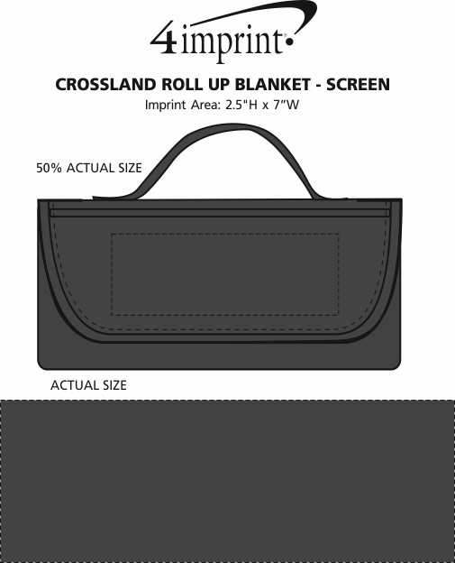 Imprint Area of Crossland Roll Up Blanket - Screen