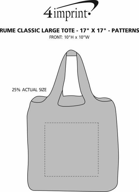 """Imprint Area of RuMe Classic Large Tote - 17"""" x 17"""" - Patterns"""