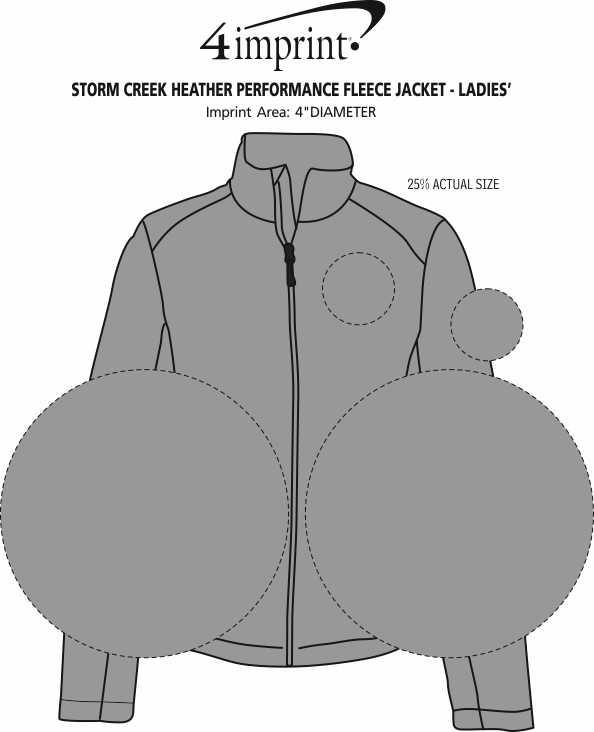 Imprint Area of Storm Creek Heather Performance Fleece Jacket - Ladies'