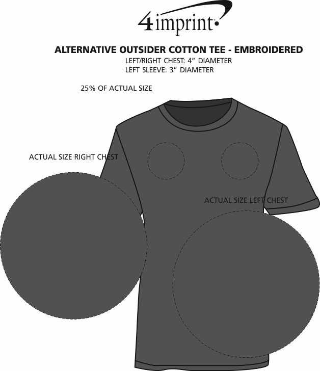 Imprint Area of Alternative Outsider Cotton Tee - Embroidered