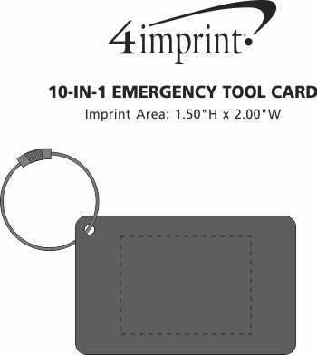 Imprint Area of 10-in-1 Emergency Tool Card