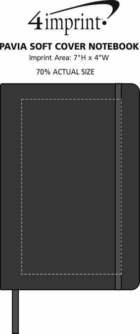 Imprint Area of Pavia Soft Cover Notebook