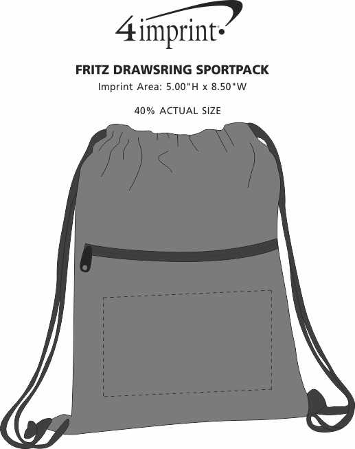 Imprint Area of Fritz Drawstring Sportpack