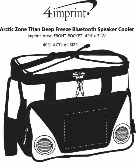 Imprint Area of Arctic Zone Titan Deep Freeze Bluetooth Speaker Cooler