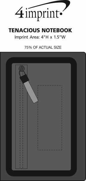 Imprint Area of Tenacious Notebook