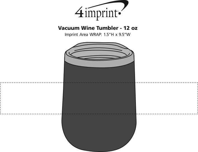 Imprint Area of Vacuum Wine Tumbler - 12 oz.