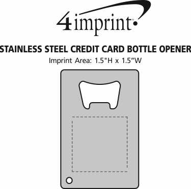 Imprint Area of Stainless Steel Credit Card Bottle Opener