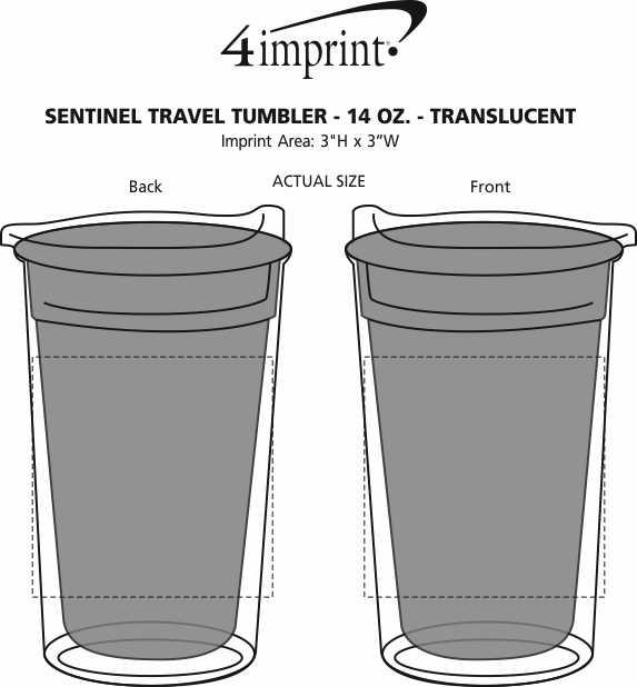 Imprint Area of Sentinel Travel Tumbler - 14 oz. - Translucent
