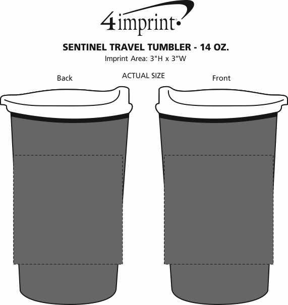 Imprint Area of Sentinel Travel Tumbler - 14 oz.