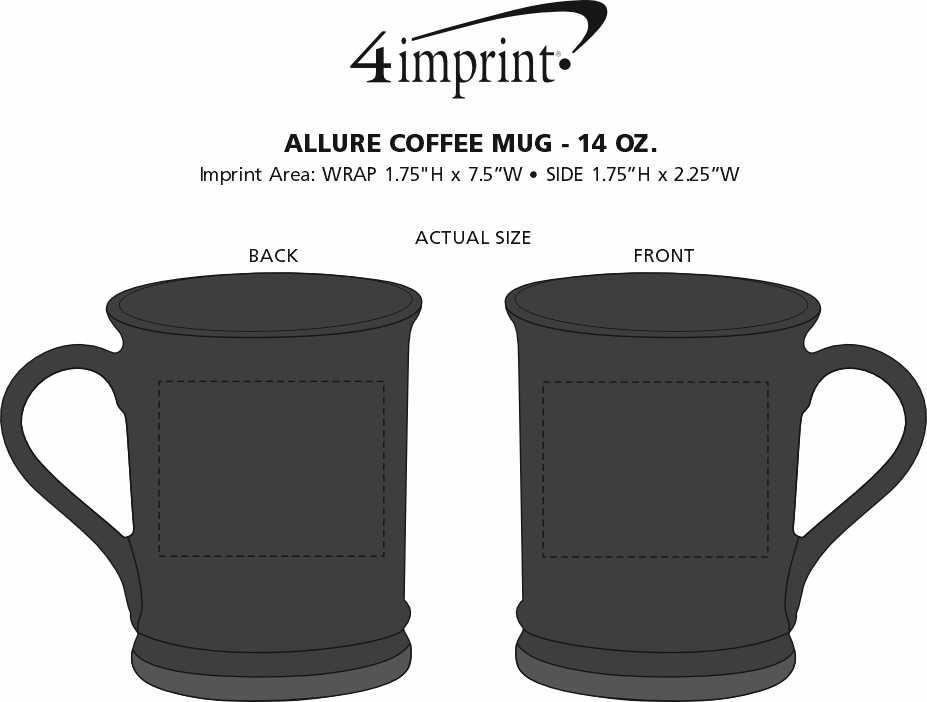 Imprint Area of Allure Coffee Mug - 14 oz.