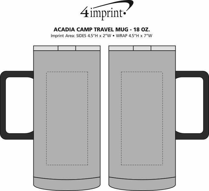 Imprint Area of Acadia Camp Travel Mug - 18 oz.