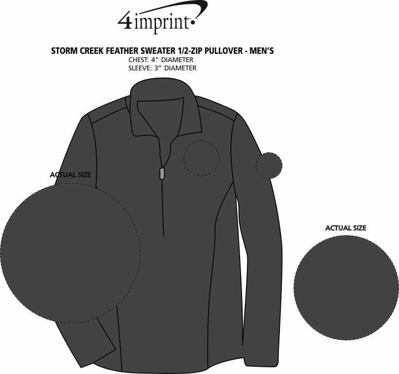Imprint Area of Storm Creek Elite Fleece Lined Jacket - Men's