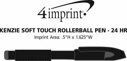Imprint Area of Kenzie Soft Touch Rollerball Pen - 24 hr
