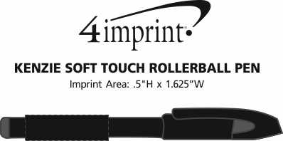 Imprint Area of Kenzie Soft Touch Rollerball Pen