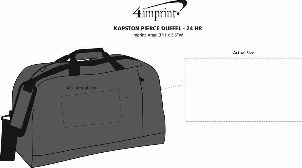 Imprint Area of Kapston Pierce Duffel - 24 hr