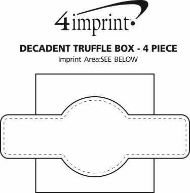 Imprint Area of Decadent Truffle Box - 4 Piece
