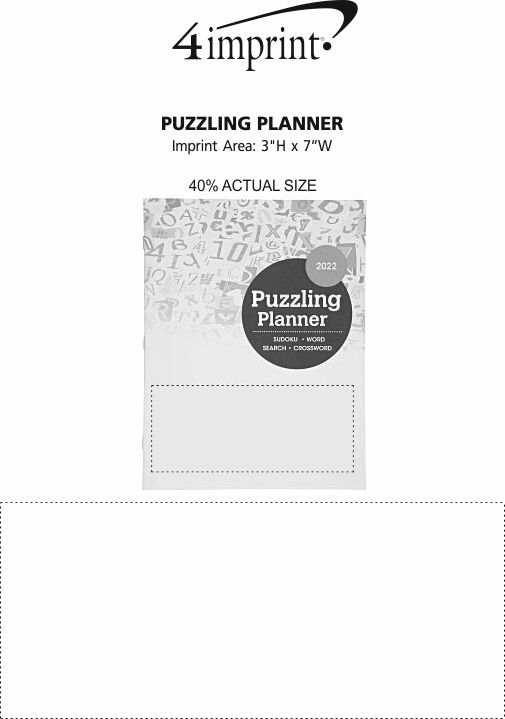 Imprint Area of Puzzling Planner