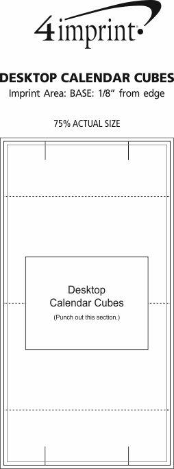 Imprint Area of Desktop Calendar Cubes