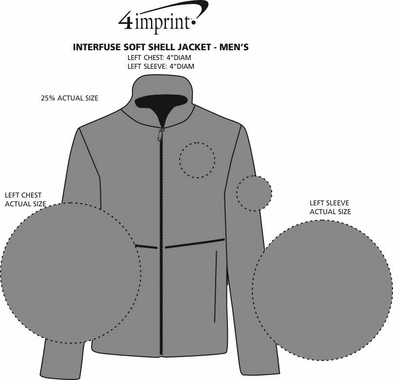 Imprint Area of Interfuse Soft Shell Jacket - Men's
