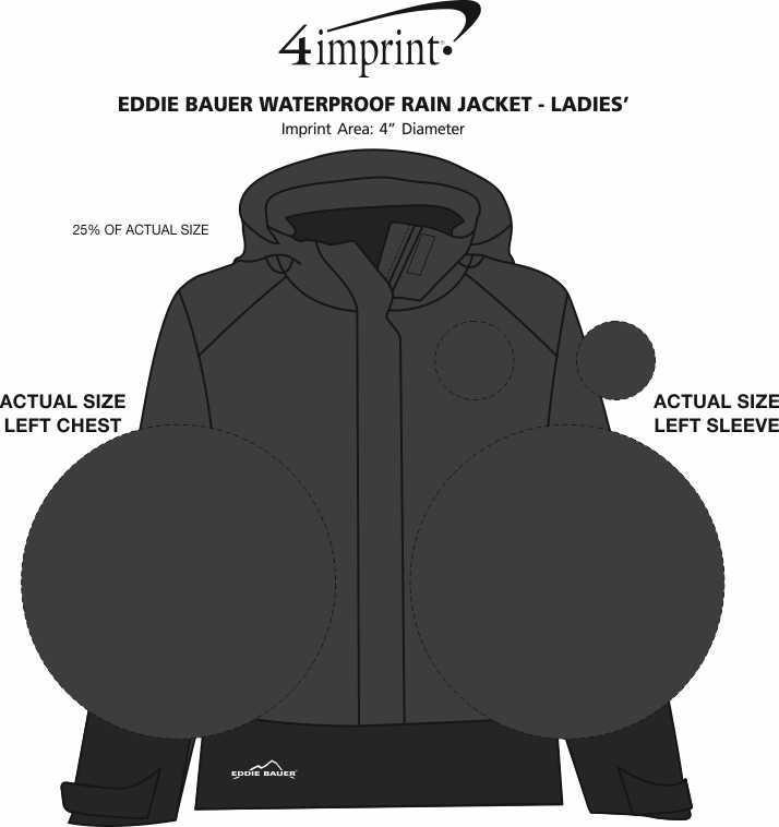 Imprint Area of Eddie Bauer Waterproof Rain Jacket - Ladies'