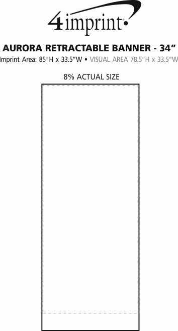"Imprint Area of Aurora Retractable Banner - 34"""