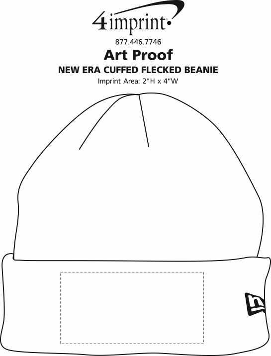 Imprint Area of New Era Cuffed Flecked Beanie