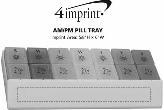 Imprint Area of AM/PM Pill Tray