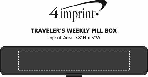 Imprint Area of Traveler's Weekly Pill Box
