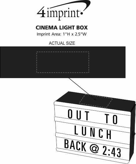 Imprint Area of Cinema Light Box