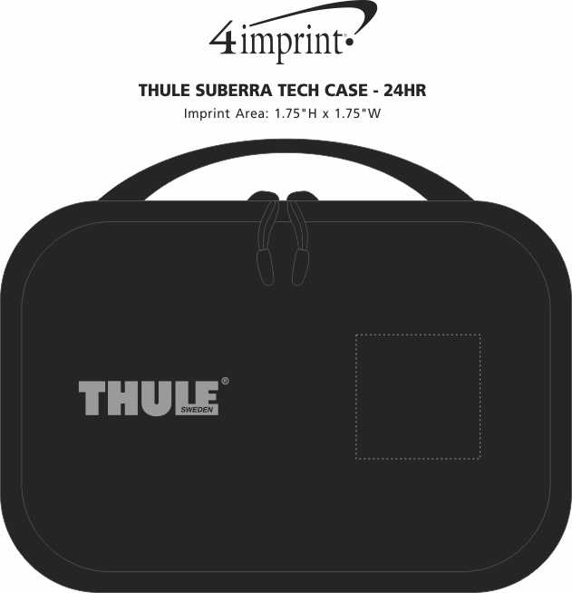 Imprint Area of Thule Subterra Tech Case - 24 hr