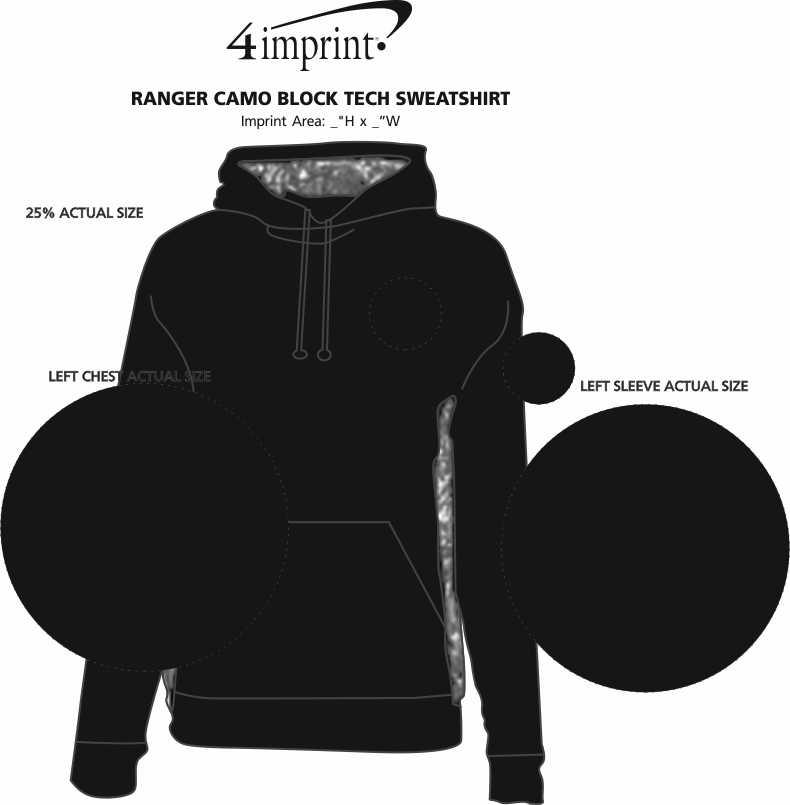 Imprint Area of Ranger Camo Block Tech Sweatshirt