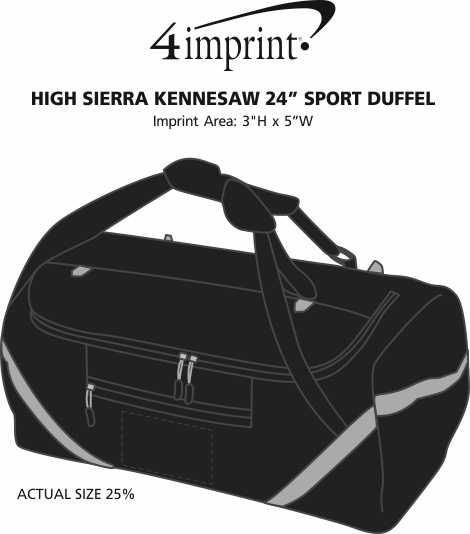 "Imprint Area of High Sierra Kennesaw 24"" Sport Duffel"